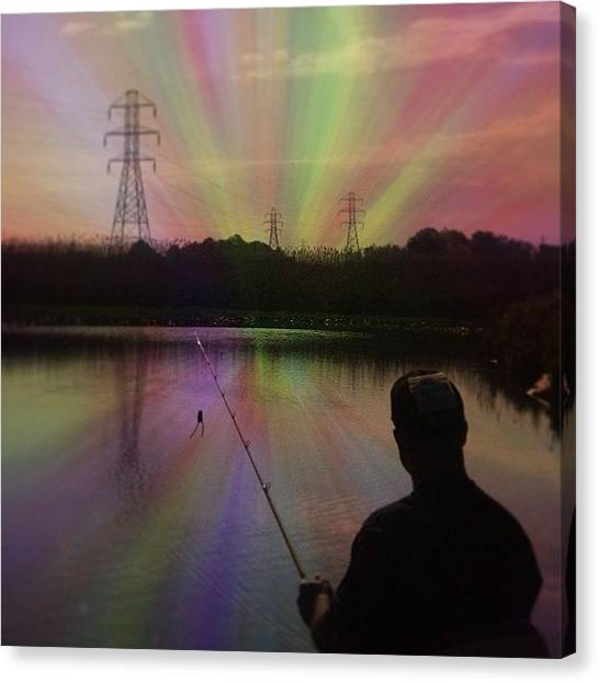 Bass Fishing Canvas Print - This Pic Is For My Bass Fishing Club by Fred Lambert