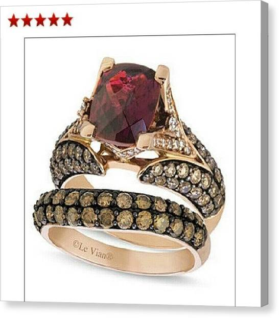 Gemstones Canvas Print - This Ring Is Also Acceptable by Erika Morales