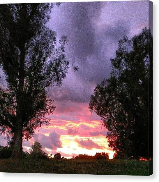 Golf Canvas Print - This Sky Is On Fireeee! Sunsets At Oak by Wyan Vong