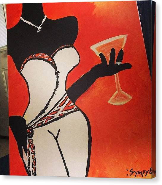 Martini Canvas Print -  'sophisticated'  by Brittany Mance