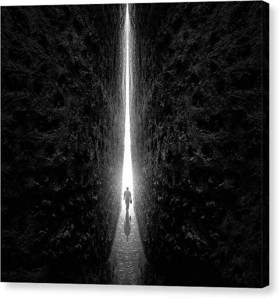 Tunnels Canvas Print - This Way by Sulaiman Almawash