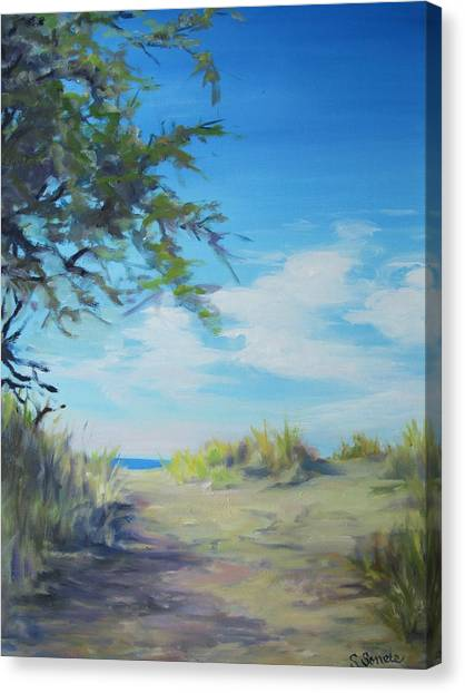 This Way To The Beach Canvas Print