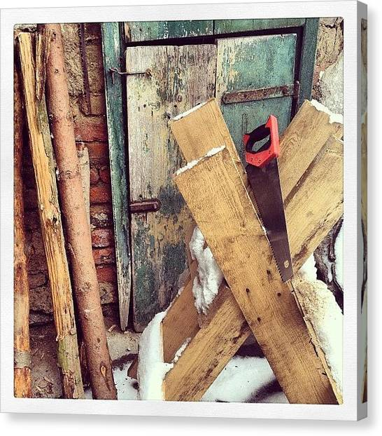Saws Canvas Print - This Winter Is Longer Than Expected by Jan Kratochvil
