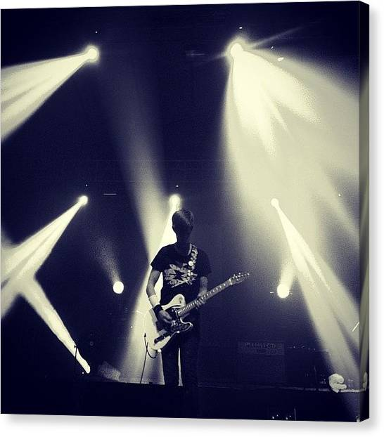 Guitars Canvas Print - @thisisblocparty  #blocparty #concert by Ram Cartney Cortez