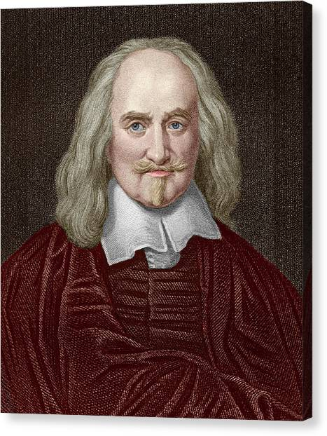 Philosopher Canvas Print - Thomas Hobbes by Sheila Terry/science Photo Library