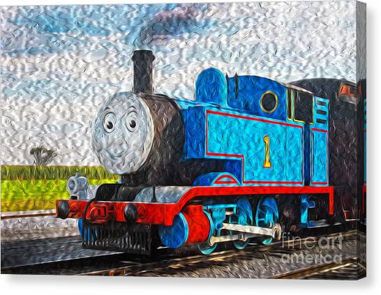 Thomas The Train Canvas Print - Thomas Is In Town by Paul W Faust -  Impressions of Light