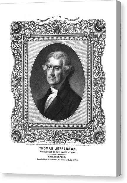 Republican Politicians Canvas Print - Thomas Jefferson by Aged Pixel