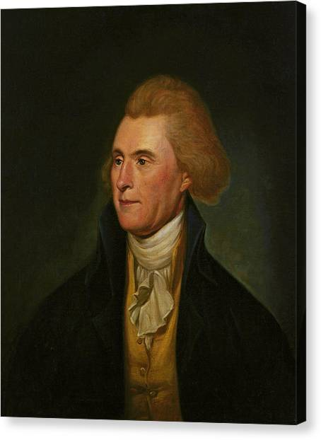 President Jefferson Canvas Print - Thomas Jefferson by Charles Wilson Peale