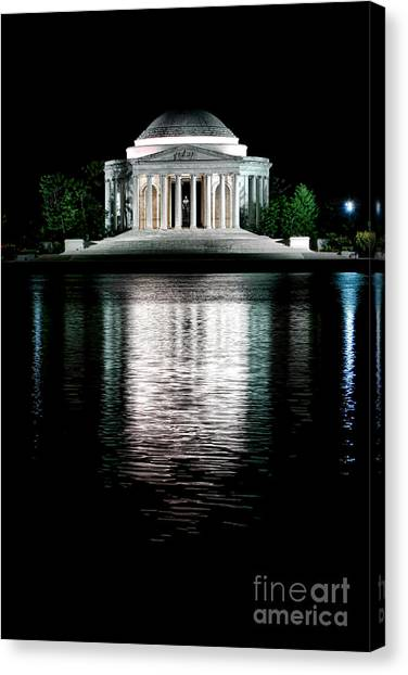 Jefferson Memorial Canvas Print - Thomas Jefferson Forever by Olivier Le Queinec