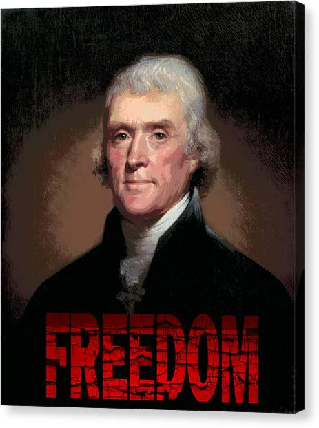Libertarian Canvas Print - Thomas Jefferson Freedom by Daniel Hagerman