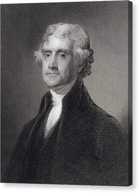 Presidential Portrait Canvas Print - Thomas Jefferson by Gilbert Stuart
