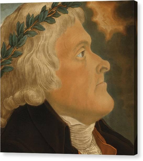 Thomas Jefferson Canvas Print - Thomas Jefferson by Michael Sokolnicki