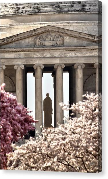 Jefferson Memorial Canvas Print - Thomas Jefferson by Mitch Cat