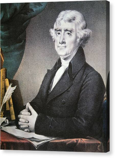 Thomas Jefferson Canvas Print - Thomas Jefferson by Nathaniel Currier