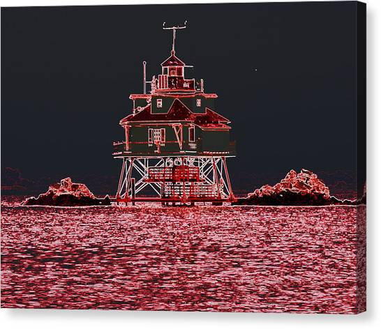 Thomas Point Light House Canvas Print