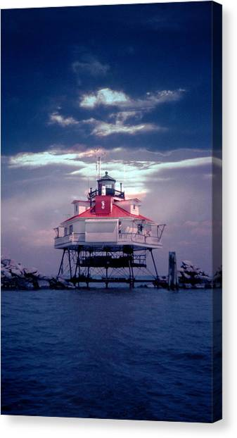 Thomas Pt.  Shoal Lighthouse Canvas Print