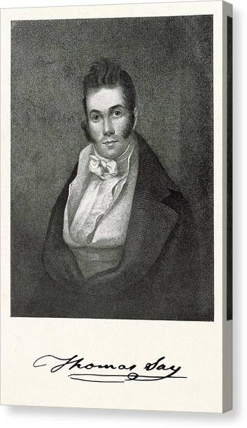 1870 Canvas Print - Thomas Say by Miriam And Ira D. Wallach Division Of Art, Prints And Photographs/new York Public Library