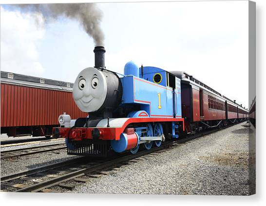 Thomas The Train Canvas Print - Thomas The Engine  by Paul W Faust -  Impressions of Light