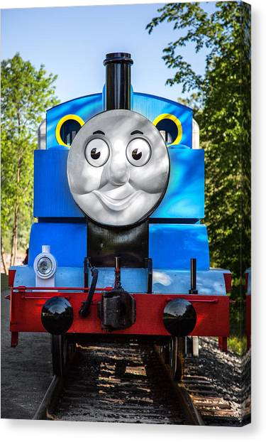 Thomas The Train Canvas Print - Thomas The Train by Dale Kincaid