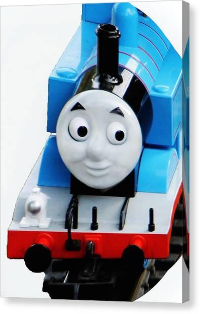 Thomas The Train Canvas Print - Thomas The Train by Debbie Nobile