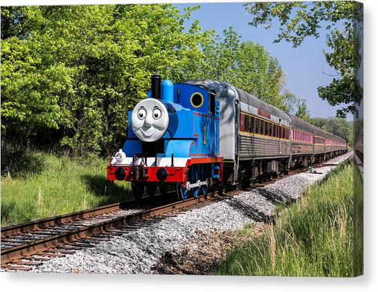 Thomas The Train Canvas Print - Thomas Visits The Cvnp by Dale Kincaid