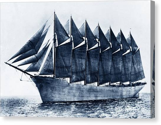 Thomas W. Lawson Seven-masted Schooner 1902 Canvas Print