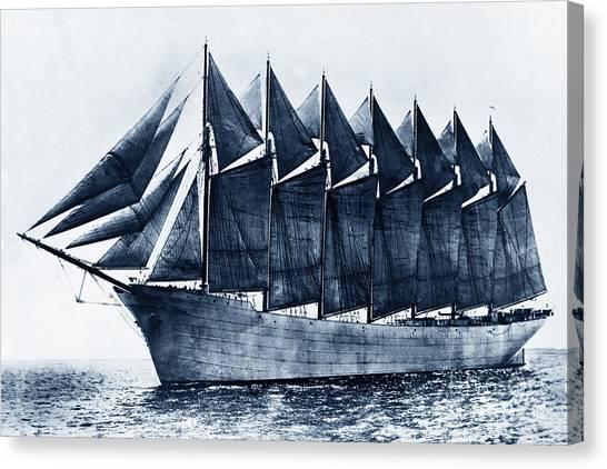 Thomas W. Lawson Seven-masted Schooner 1902 Canvas Print