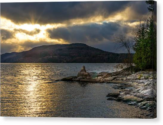 Thompson Point Sunset Canvas Print