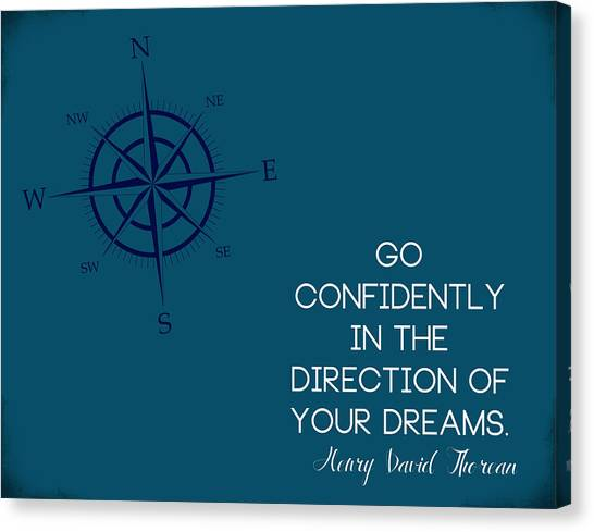 Graduation Canvas Print - Thoreau Compass by Nancy Ingersoll