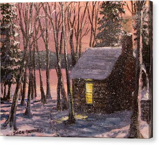 Canvas Print - Thoreau's Cabin by Jack Skinner