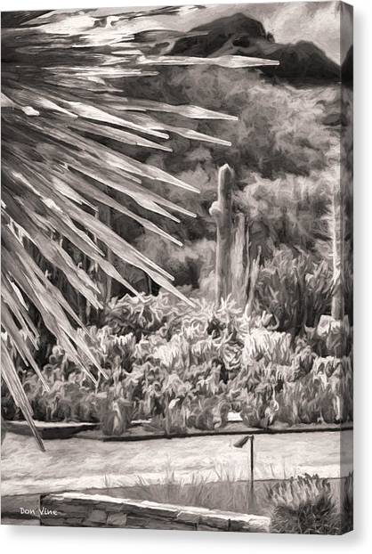 Thorns Of Glass  Bw Canvas Print