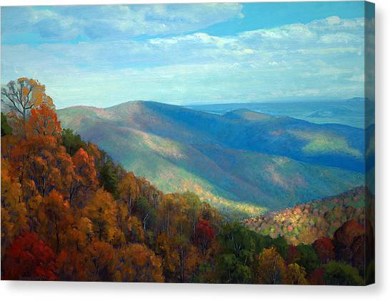 Shenandoah Canvas Print - Thornton Gap Overlook Afternoon by Armand Cabrera