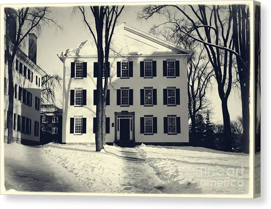 Dartmouth College Canvas Print - Thornton Hall Dartmouth College by Edward Fielding