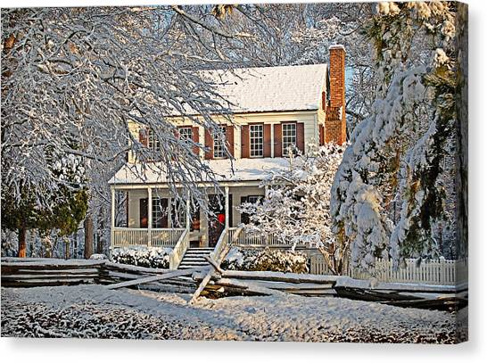 Thorntree In Snow Canvas Print