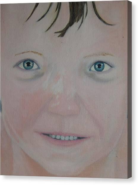Those Blue Eyes Canvas Print