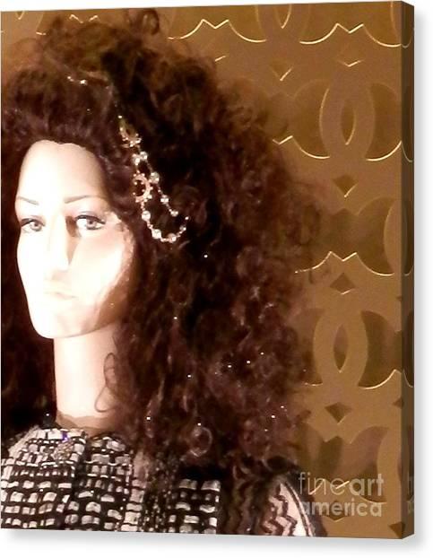Those Wild Curls Canvas Print