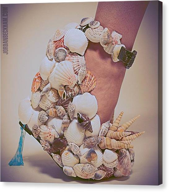 Seashells Canvas Print - Thou Shall Not Parrish + @knewwd Issue by Mj Whalen