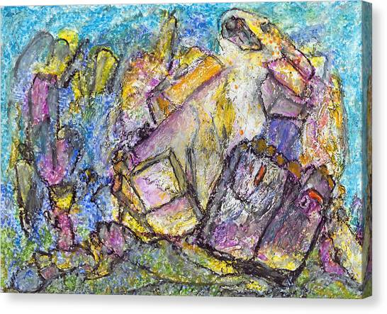 Thoughts About Kandinsky Canvas Print by Yuri Lushnichenko