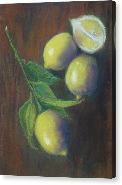 Three And A Half Lemons Canvas Print by Ellen Minter