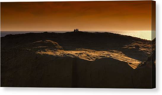 Three At Sunset Canvas Print