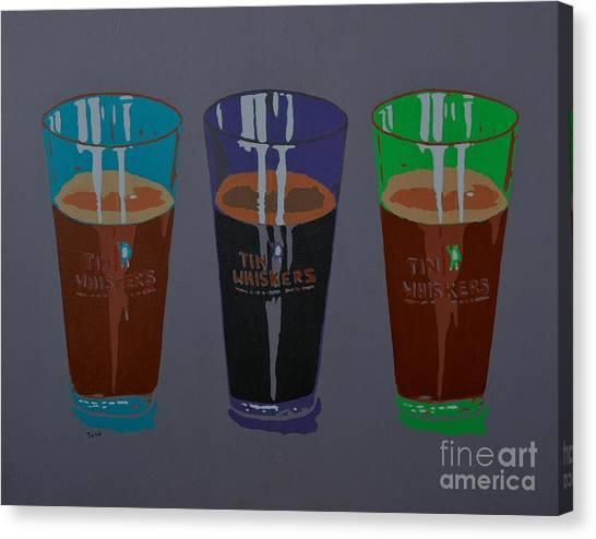 Three Beers Canvas Print