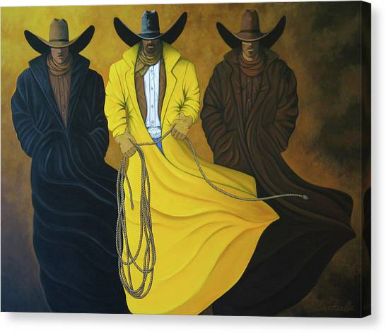 Contemporary Cowboy Art Canvas Print - Three Brothers by Lance Headlee