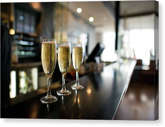 Canberra Canvas Print - Three Champagnes by Helen Yin