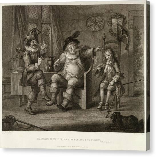 English And Literature Canvas Print - Three Characters by British Library