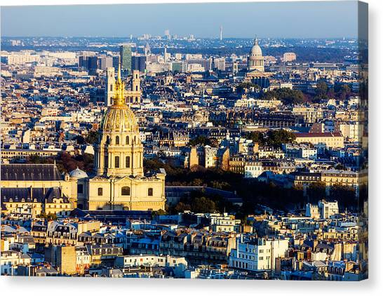 Les Invalides Canvas Print - Three Church Tops by Kirk Strickland