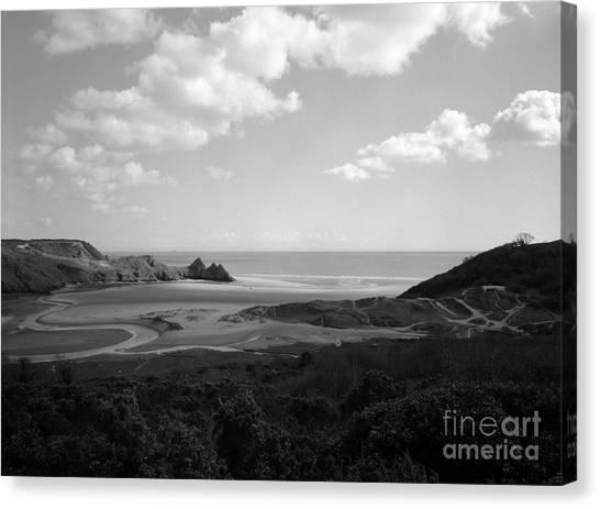 Three Cliffs Bay Canvas Print