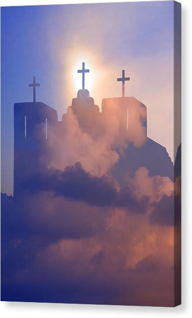 Three Crosses Canvas Print by Jim Zuckerman