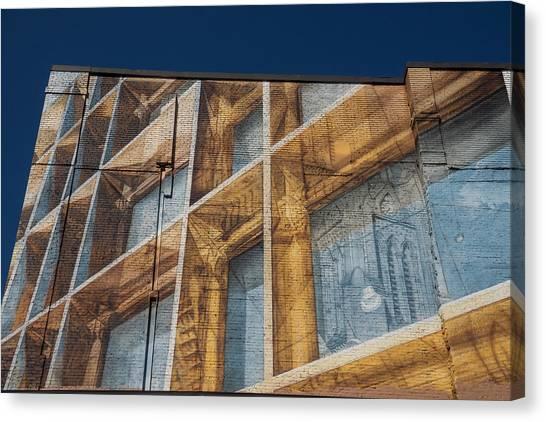 Three Dimensional Optical Illusions - Trompe L'oeil On A Brick Wall Canvas Print