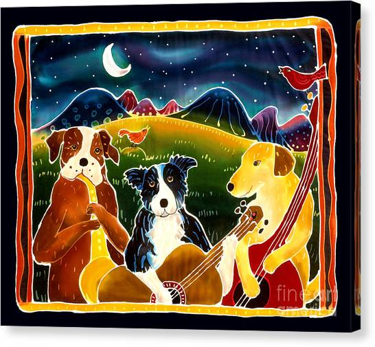Border Collies Canvas Print - Three Dog Night by Harriet Peck Taylor