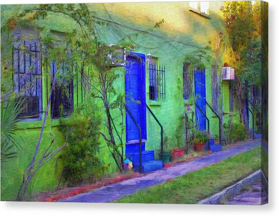 Inspired By Van Gogh Canvas Print - Three Doors Down  by L Wright
